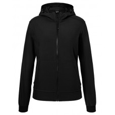 JN1145 Ladie's Hooded Softshell Jacket / Black