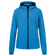 JN1145 Ladie's Hooded Softshell Jacket / blue
