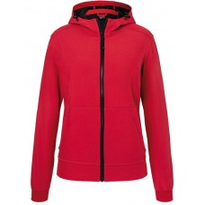 JN1145 Ladie's Hooded Softshell Jacket / Red