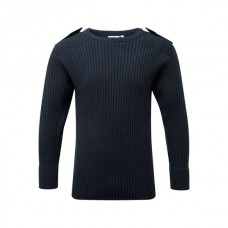 120 // Crew Neck Combat Jumper - Navy