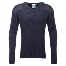 120V // V Neck Combat Jumper - Navy