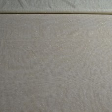 Tule - Champagne met gouden glitters - COUPON 90 cm