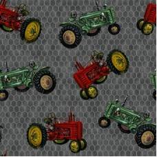Down on the farm - tractors (grijs)
